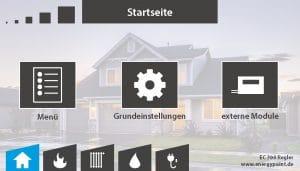 Startseite EC 700 Regler Software